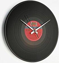 Discoclock–Uhr Vinyl/Vinyl record Clock–Wanduhr/Wanduhr/Uhr Vintage/Geschenkidee hergestellt mit echten Medien aus Vinyl–Typ: doc000–Basic/Disco intiero.–Lieferung in 24Std. 2Jahre Garantie.