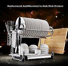 Dish drainer antimikrobielle stainless steel drain rack küche-racks regal-A