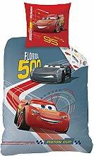 Disney 044780Cars Race Bettwäsche für Kinder