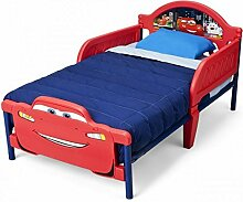 Disney 3D Kinderbett Lightning McQueen Princess Mickey Minnie Bett Möbel Kinderzimmer 140x70 Schlafen NEU, Motiv:Cars