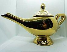 Disney Aladdin Genie Lamp Ceramic Teapot, 9 x 5.5