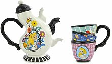 Disney Alice in Wonderland Ceramic Tea Set, 17 oz