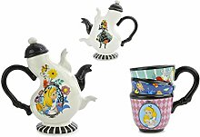 Disney Alice in Wonderland Ceramic Tea Set, 17 oz