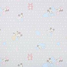 Disney Baby Mouse Snuggle hellgrau — Meterware