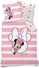 Disney Bettwäsche Minnie Mouse, Baumwolle, Rosa,