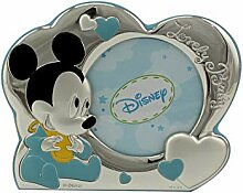 Disney Bimbo Bilderrahmen Mickey Cuoricini hellblau