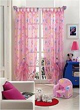 Disney C670 Gardinen/Vorhänge, Farbe: Rosa, Motiv: Prinzessinnen