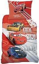 Disney Cars 044458 Bettwäsche Go Go Go, Baumwolle