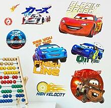 Disney Cars 3D Wandsticker, Vinyl, Mehrfarbig