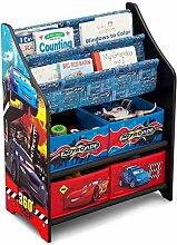 Disney Cars Bücherregal Holz Multi Toy Organizer Kinderregal Spielzeugregal