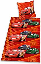 Disney Cars Flanellbettwäsche / Rote Cars Flanell