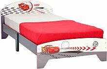 Disney Cars Kinderbett grau/weiss/rot Jungenbett Bett Lightning McQueen Holzbe