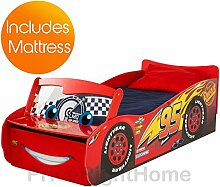 Disney Cars Lightning McQueen Feature Kleinkind Bett + deluxe Matratze