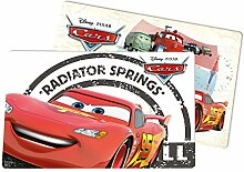 Disney CARS Platzset, 2 Stück, Radiator Springs, Kunststoff, Mehrfarbig, 29 x 43 x 0.2 cm