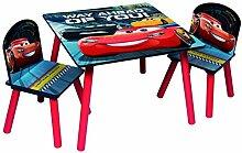 Disney Cars Sitzgruppe Tisch 2 Stühle aus Holz,
