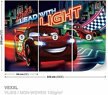 Disney Cars Vlies Fototapete Tapete Vliestapete Dekoshop Disney Cars Kinder AD749VEXXL (312cm x 219cm) Photo Wallpaper Mural
