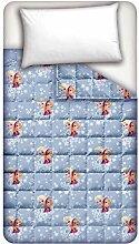 Disney Die Eiskönigin – Völlig unverfroren Steppdecke, aus Baumwolle, hellblau, für Einzelbe