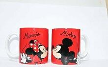 Disney Einzelbett Becher-Set - rot Micky Maus und Minnie Maus von divasworld