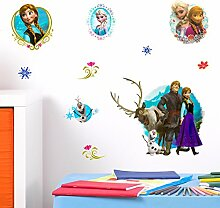 Disney Frozen 3D Wand Aufkleber Kinder Kunst