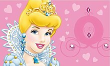 Disney Fun LINE Princess Teppich, Synthetikfaser,