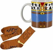 Disney Geschenkset Toy Story Tasse und Socken Woody