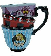 Disney Kaffeetasse Tasse Mug Pott Kaffee Becher Stapelbecher ALice im Wunderland bun
