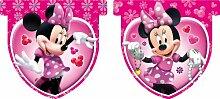 Disney Kindergeburtstag Dekoration Minni Maus Flaggenbanner Flaggen Girlande 3m