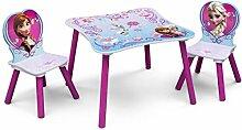 Disney Kindersitzgruppe FROZEN Tisch + 2 Stühle Holz Sitzgruppe Maltisch Spieltisch Kindermöbel Möbel NEU