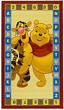 Disney Kinderteppich Spielteppich Winnie Puuh / Winnie the Pooh und Tigger Abc gold 80 x 140 cm