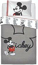 Disney Mickey Mouse Cartoon-Figur Jersey Grau