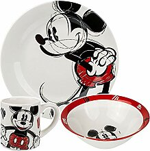 Disney Mickey Mouse Porzellan Keramik Geschirrset,
