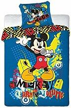 Disney MICKEY MOUSE ROCKSTAR Bettwäsche 160x200cm