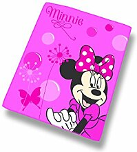 Disney Minnie 042361 Fleece Decke New Shoes Pink, Polyester, 110 x 140 cm
