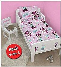 Disney Minnie Maus Bettwäsche-Set für Kinder,
