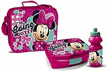 Disney Minnie Maus Pausenset Lunchbox 3 Teile