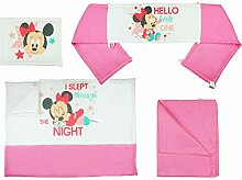 Disney - Minnie Mouse Mädchen- Baby-Bett-Set