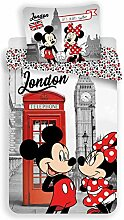 Disney Minnie und Mickey London Bettwäsche -
