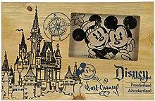 Disney Parks Castle Blueprint Holz 4x 6Foto