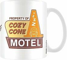 Disney Pixar Cars, Cozy Cone Motel Keramik Becher, mehrfarbig