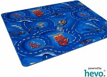 Disney Pixar World of Cars blau HEVO® Strassen Spielteppich 200x280 cm