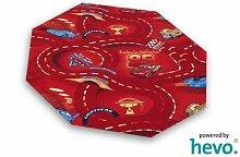 Disney Pixar World of Cars rot HEVO® Strassen Spielteppich 200 cm Achteck