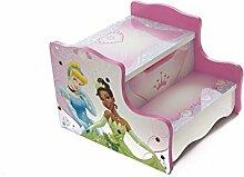 Disney Princess Kinder Mädchen Holz Schritt Hocker Aufbewahrung Spielzimmer Schlafzimmer Möbel Toys Kids–Pink