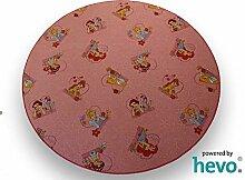 Disney Prinzessin Teppich   Spielteppich   Kinderteppich rosa 200 cm Ø Rund