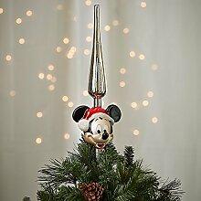 Disney Santa Micky Maus Glas Christbaumspitze