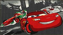 Disney Teppich Cars World Racing grau/rot 80 x 140
