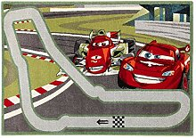 Disney Teppich Premium Cars Monza grau/grün/rot