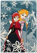 Disney Teppich Premium Frozen blau/Mehrfarbig 100