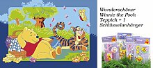 Disney Winnie Pooh mit Tigger beim Picknick Kinder Teppich Spielteppich Kinderteppich 95 x 133 cm