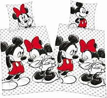 Disneys Mickey + Minnie Mouse Partner Bettwäsche