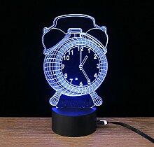 Display in 3D Wecker Licht Visuelle LED Lampe